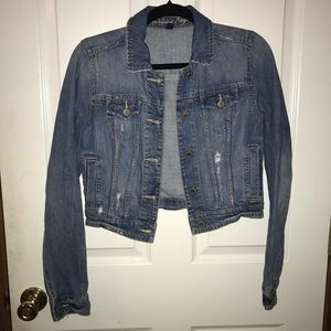American Eagle Cropped Jean Jacket Size Small